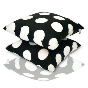 Dekorativní polštář Dots černý EMI