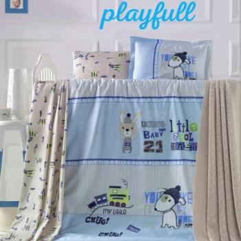 Dětské povlečení Playfull modré