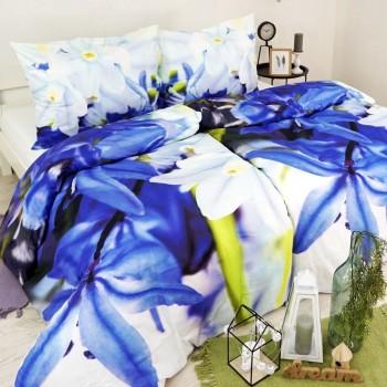 Povlečení bavlněné Ariel modré EMI