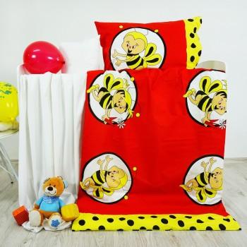 Povlečení dětské bavlněné včelky červené EMI