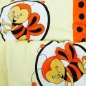 Povlečení dětské bavlněné včelky oranžové EMI