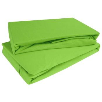 Prostěradlo zelené kiwi jersey EMI