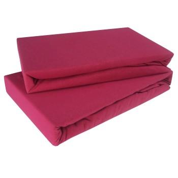 Prostěradlo tmavě růžové jersey EMI