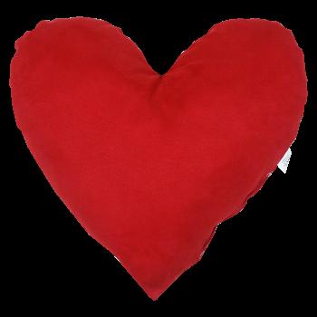 Polštář Srdce červený semiš EMI